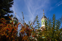 Smolensk Cathedral In Abundance Of Colorful Foliage