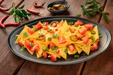 Mexican Nachos With A Cheese S...