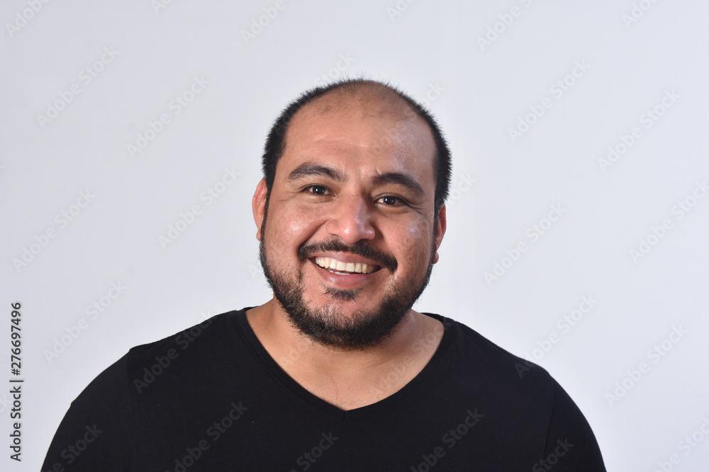 Fototapety, obrazy: portrait of latin american man on white