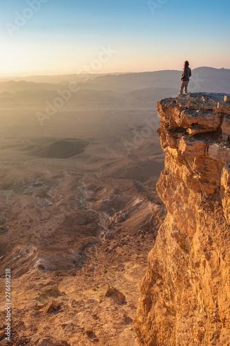 Watching sunrise in the Negev desert Poster Mural XXL