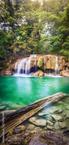 Beautiful waterfall at Erawan national park, Thailand Wall mural
