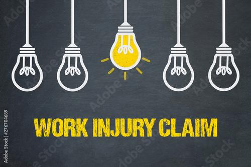 Fotografía  Work injury claim