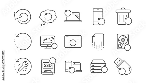 Recovery line icons Canvas