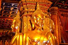 Statue Of Buddha In Wat Phumin,nan, Thailand