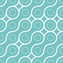 Abstract Geometrical Woven Lines Seamless. Vector Illustration.
