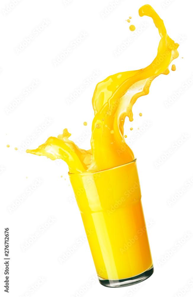 Fototapeta orange juice splash isolated