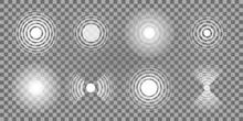 A Set Of Circular Signals On A Transparent Background.
