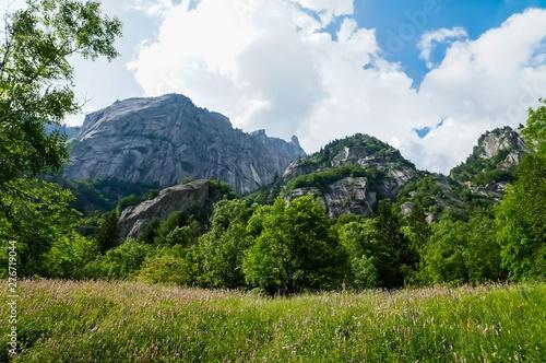 montagne in val di mello Canvas Print