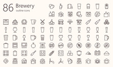 Brewery Outline Iconset. Was C...