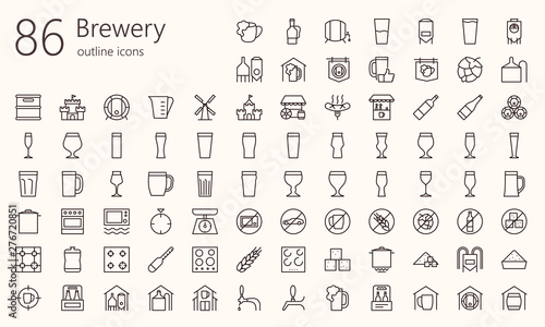 Fotografía Brewery outline iconset