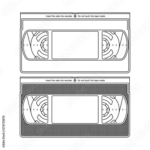 Fényképezés  Outlined Silhouettes of a Video Recorder Tape