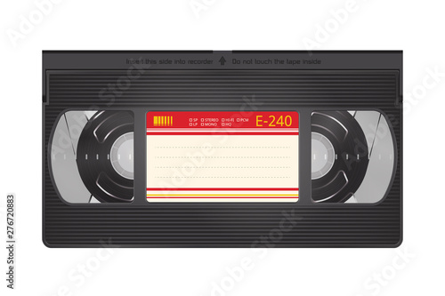 Realistic Video Recorder Tape Fototapet