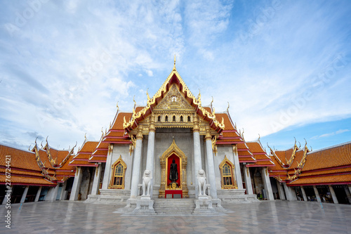 Poster Bangkok The Marble Temple, Wat Benchamabopitr Dusitvanaram Bangkok Thailand, (the Marble Temple)