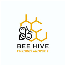 Bee Vector Logo Premium Download Template  Quality