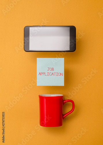 Fotografia, Obraz  Word writing text Job Application