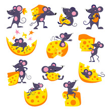 Cartoon Mouse Vector Mousy Ani...