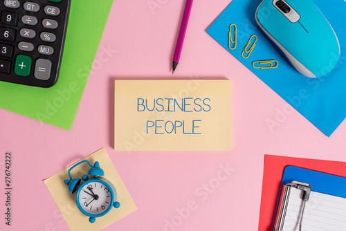 Valokuva  Conceptual hand writing showing Business People