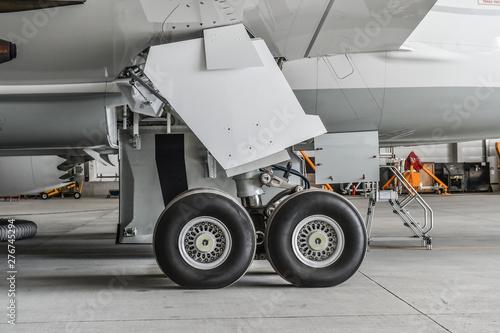Landing gear of an modern airliner Canvas Print
