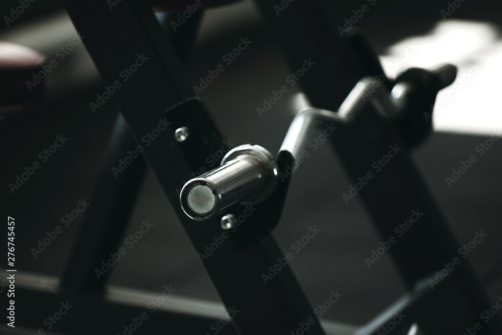 Fototapety, obrazy: Gym equipment in a dark tone. Vulture close up.