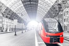 Railway Train Station Interior...