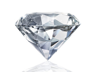 Olśniewający diament na białym tle