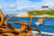 Rusty Anchors In The Fishing Village Peggys Cove