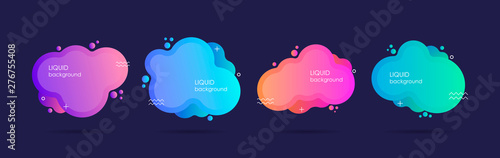 Abstract liquid shape. Fluid design. Isolated gradient waves. Modern vector illustration - fototapety na wymiar