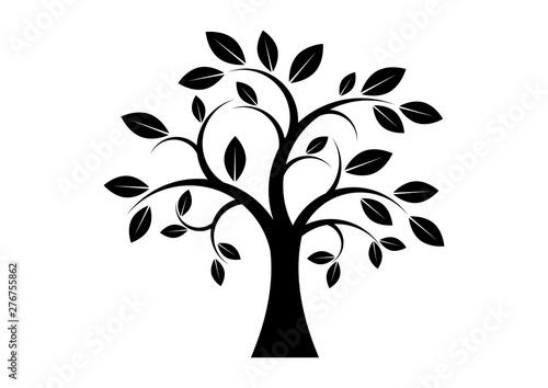 Decor Tree black silhouette clip art. Tree isolated on ... (500 x 354 Pixel)