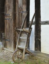 Antique Wooden Car, Log Cabin.