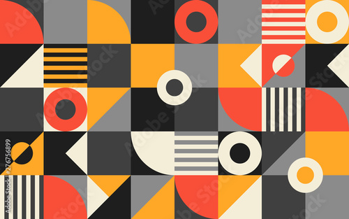 Geometry artwork poster in minimalistic style with simple shape and figure. Abstract pattern in Scandinavian style for web banner, business presentation, print, branding package, wallpaper