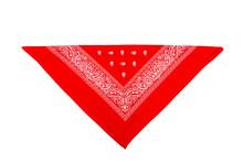 Red Bandana Isolated On White