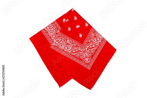 Fotografia Red bandana isolated on white