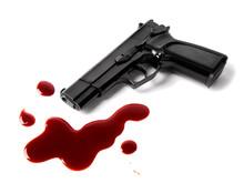 Gun And Blood Splatters