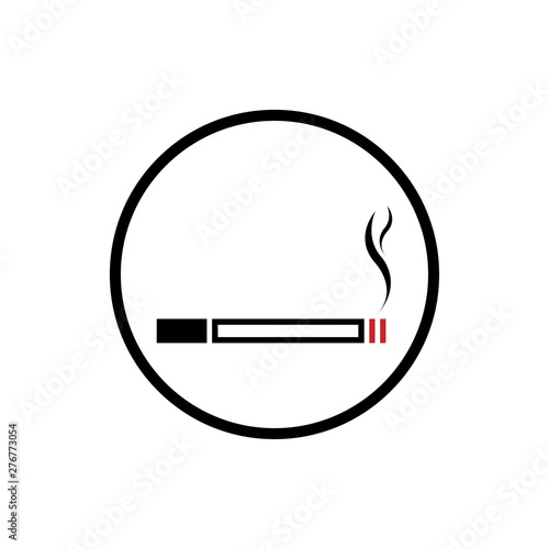 Photo Smoking Cigarette Icon Vector Illustration - Vector