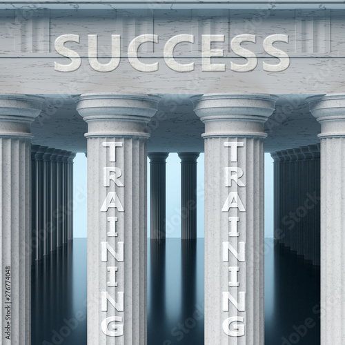 Training is a vital part and foundation of success, it helps achieving success, Canvas Print