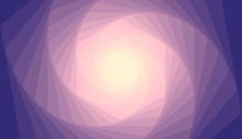 Hexagon Spiral. Abstract Pink And Blue Gradient Background