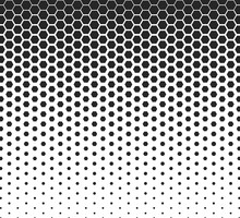 Hexagon Halftone Pattern Shape...