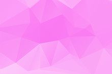 Pink Low Poly Crystal Background. Polygon Design Pattern. Pink Colorful Low Poly Vector Illustration, Low Polygon Background.