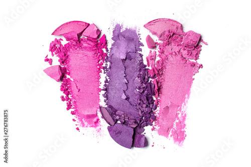 Fotografija Smear of bright purple and pink eyeshadow