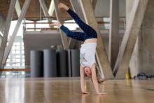 Young Girl Doing Cartwheel