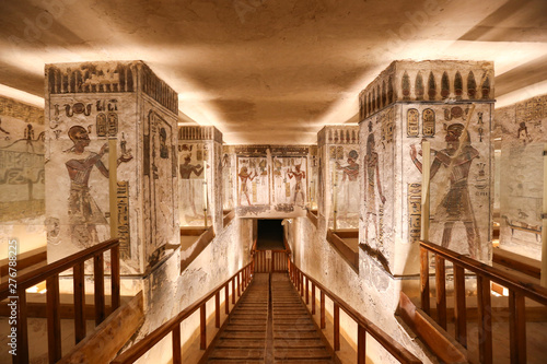 Tomb in Valley of the Kings, Luxor, Egypt Wallpaper Mural