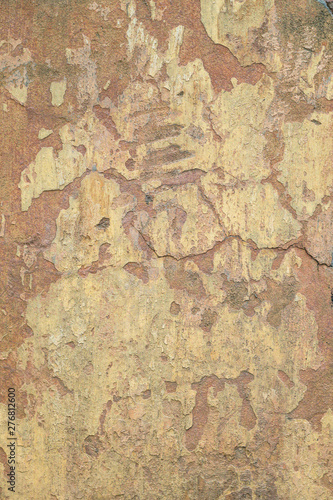 Canvas Prints Old dirty textured wall textured beige and coral concrete wall