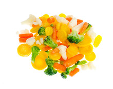 Frozen Broccoli, Cauliflower, Red And Yellow Carrots.