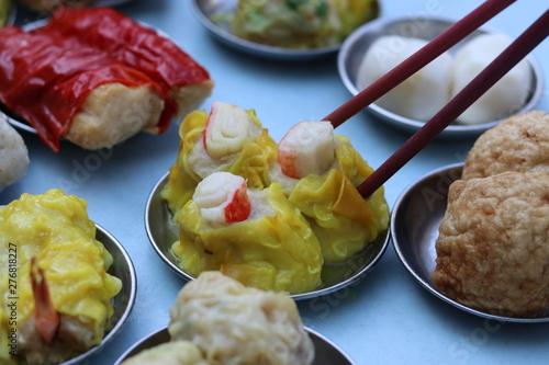 Photo Eating Chinese Dim sum recipe in Kuala Lumpur ,Malaysia