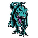 Fototapeta Dinusie - t-rex vector logo
