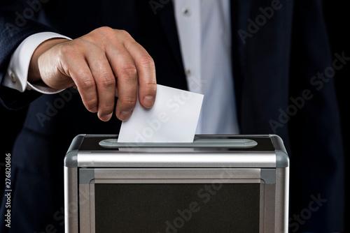 Vászonkép  選挙イメージ 黒背景