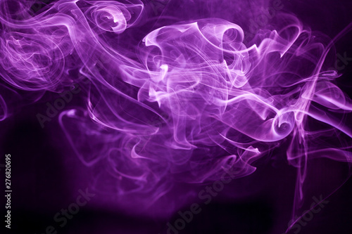 Foto op Canvas Rook Toxic purple smoke.
