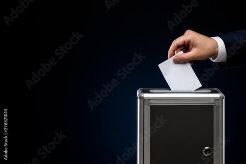 Valokuva  選挙イメージ 黒背景 コピースペース