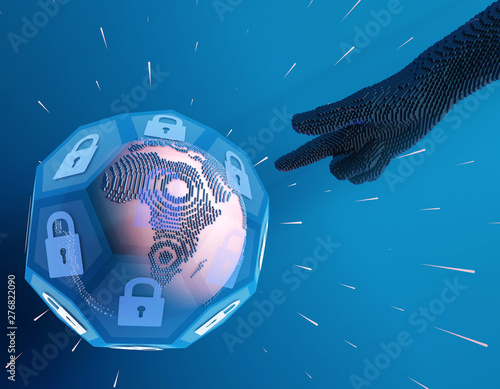 Fotografia, Obraz  Future Earth Technology, Global Digital, Network Technology