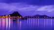 Leinwanddruck Bild - landscape of  sea in twilight time , Thailand